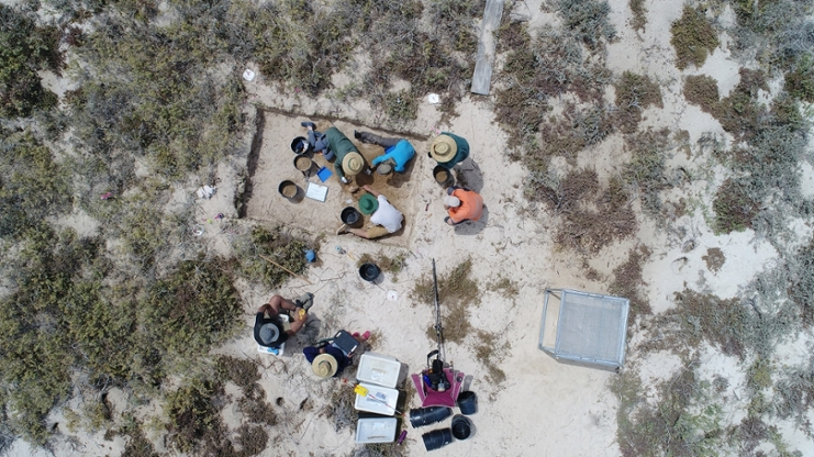 Archaeologists at work Paterson 2017DJI_0018